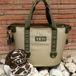 field tan yeti hopper