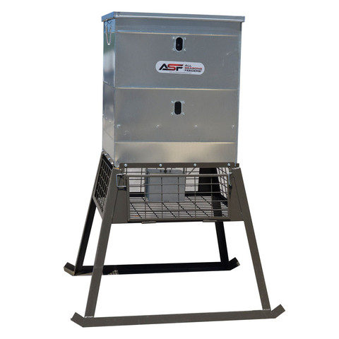 All Seasons Feeders stand and fill feeder
