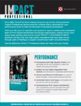 Impact Professional Performance Sell Sheet Page 1