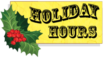 Holiday Hours at Ark Country Store